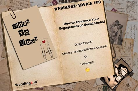 Wedding Announcement On Social Media by How To Make Your Engagement Announcement More On
