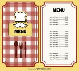 menu cover design vector vector free download