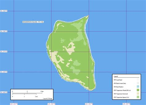 map islands henderson island pitcairn islands