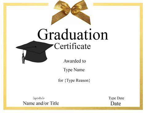 Graduation Certificate Template Customize Online Print Grad Templates