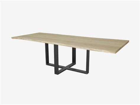 eiken tafelblad schoonmaken boomstam tafel met industriele poot op maat gemaakt with