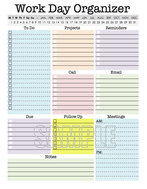 free printable day planner organizer printables planners and organizers for women calendar
