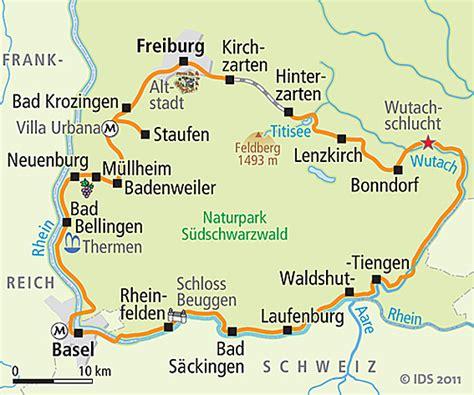 Motorradtouren Rund Um Heidelberg by Schwarzwald Radweg Karte Reise Service Velociped