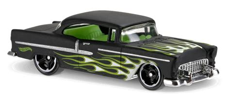 Wheels Chevy55 Black Dove 55 chevy 174 in black hw flames car collector wheels