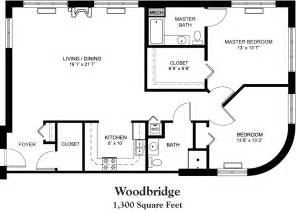 Square House Floor Plans house plans 1800 square foot 1300 square foot house floor plan