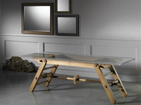 tavolo altezza tavolo ad altezza regolabile in frassino compasso by l