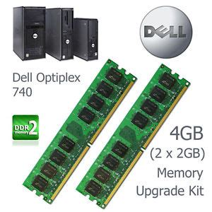 Upgrade Ram Laptop 2gb Ke 4gb 4gb 2 x 2gb memory upgrade kit dell optiplex 740 tower