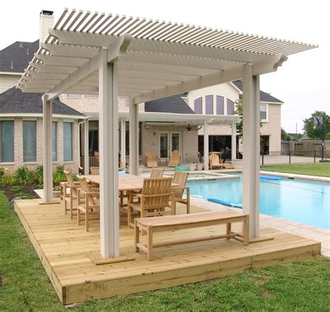 wood patio covers in