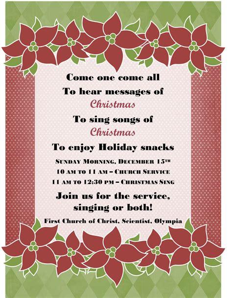 Invitation Letter For Carol Caroling Invitations Decore