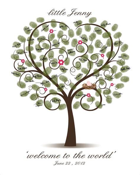 Baby Shower Fingerprint Tree by Baby Shower Fingerprint Tree Printable Pdf File