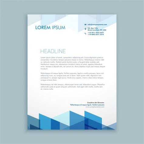 Premium Design Vorlage Moderne Briefkopf Vorlage Der Kostenlosen Vektor
