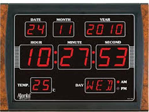 wall clock digital digital battery wall clock