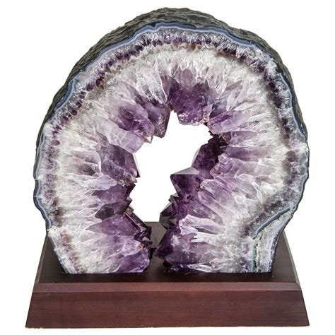 decorative sculptures for the home exquisite quartz and amethyst geode sculpture on stand at