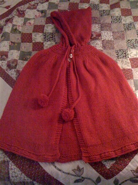 free pattern hooded cape free knitting pattern hooded infant cape