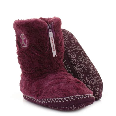 bedroom boots womens girls bedroom athletics marilyn plum faux fur
