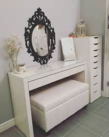 Ikea Vanity Mirror Updated Vanity Malm Desk Ikea Alex Drawers Ikea