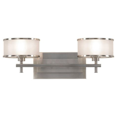 Luxury Vanity Lights Feiss Casual Luxury 2 Light Brushed Steel Vanity Light Vs13702 Bs The Home Depot