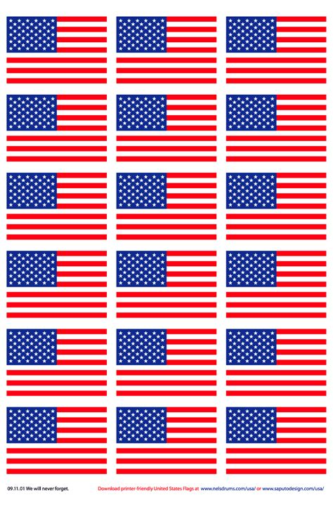 printable us flags printer friendly american flags