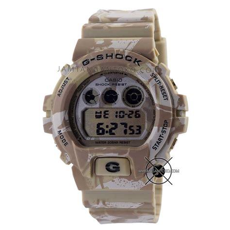 G Shock Army Coklat jam tangan g shock dw 6900 loreng coklat gurun ori bm