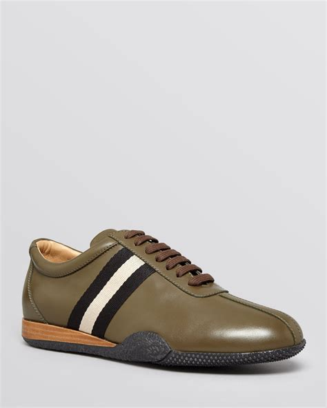 bally sneakers mens lyst bally frenz sneakers in green for