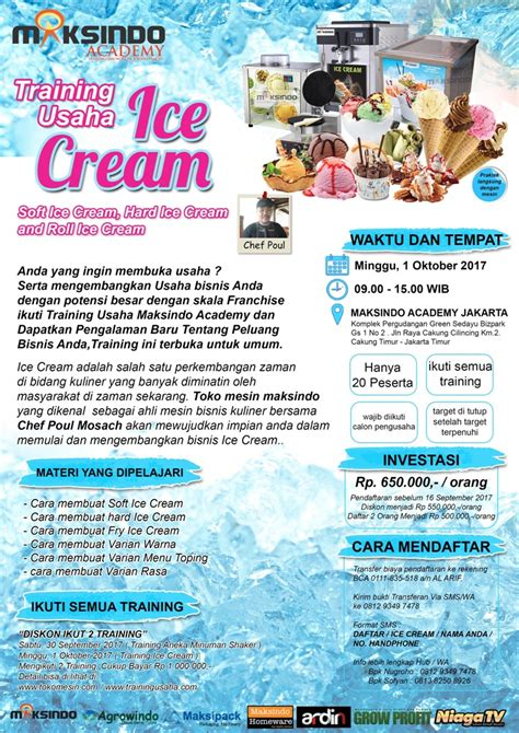 membuka usaha ice cream training usaha ice cream 1 oktober 2017 tokomesinsolo