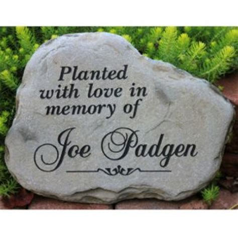 Memorial Garden Rocks A Custom Engraved Garden Memorial Medium Personalized Km Rr Garden 114 95sympathy