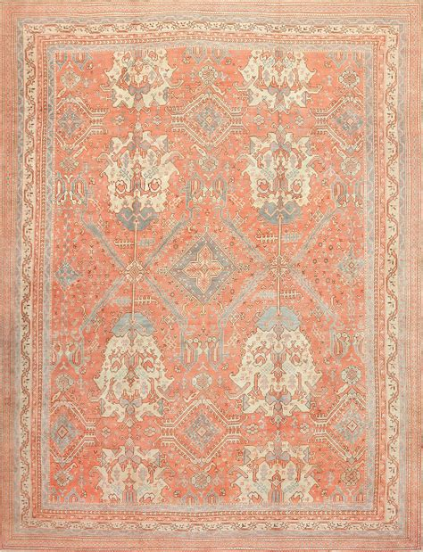 Large Rug by Large Decorative Antique Turkish Oushak Rug 48473 By Nazmiyal