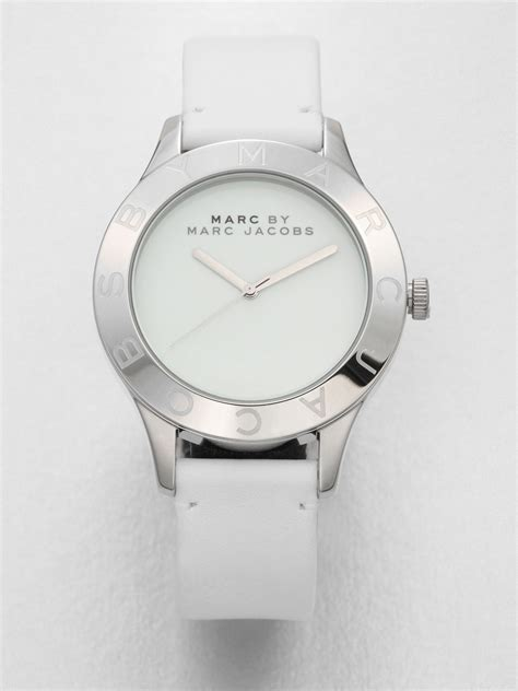 march jacob white silver marc by marc stainless steel leather in