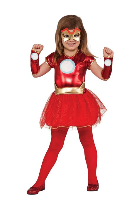 superhero halloween costumes for girls kids avengers girl iron man tutu costume 27 99 the