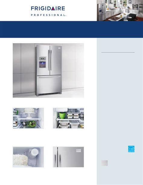 frigidaire gallery door refrigerator manual frigidaire refrigerator refrigerator manuals frigidaire