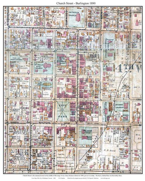 burlington vt map maps of church burlington vt