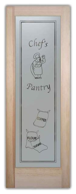 24 X 80 Pantry Door by Pantry Door Happy Chef W Sacks Etched Glass 24 X 1 375 X 80 Traditional Interior Doors By