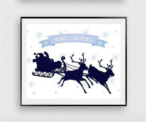 merry christmas printable santa claus print christmas sign christmas poster deer holiday
