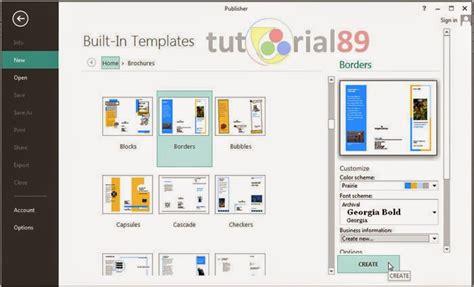 cara membuat brosur iklan di microsoft word cara cepat membuat brosur dengan publisher tutorial89