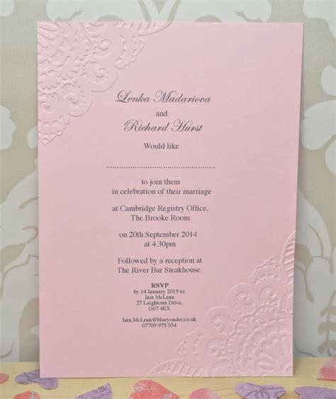 sweet pea wedding invites vintage lace embossed wedding invitation by sweet pea