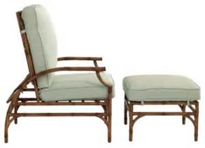 Outdoor Recliner Chairs Galante Recliner Ottoman Tropical Outdoor Lounge Chairs By Ballard Designs