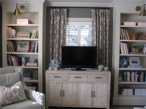 Putting A Tv In Front Of A Window | tv built ins in front of window the colonial pinterest