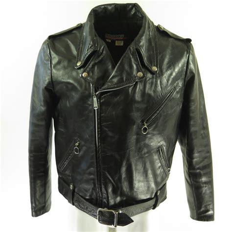 Jaket Vintage Rebel Sandwash vintage 60s leather jacket mens 48 motorcycle biker