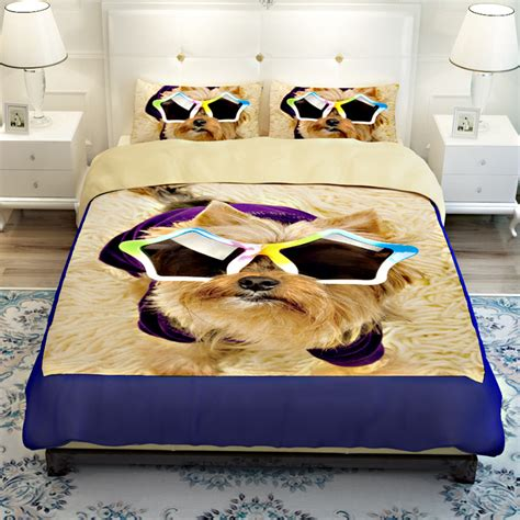 dog bedding set hot sale 3d lovely dog pet design twin queen bedding bed