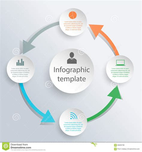 Infographic Circle Template Stock Vector Image 66826799 Circle Infographic Template