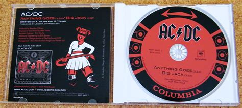 Kaos Band Acdc Anything Goes cd singles promos slers not australian ac dc collector