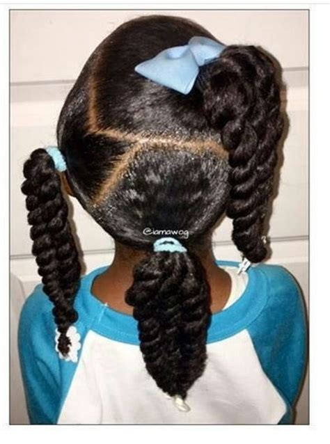 Kid Ponytail Hairstyles by Twisted Ponytail Hairstyles For Black Www