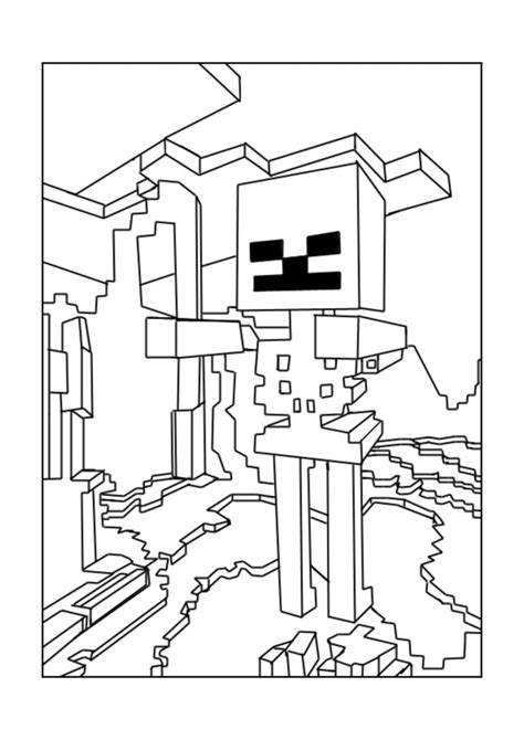 minecraft coloring pages wither skeleton 40 printable minecraft coloring pages
