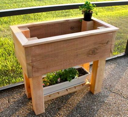 ana white elevated planter box diy projects
