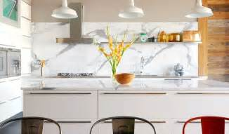 Marble Kitchen Backsplash Design Marble White And Grey Backsplash Interior Design Ideas