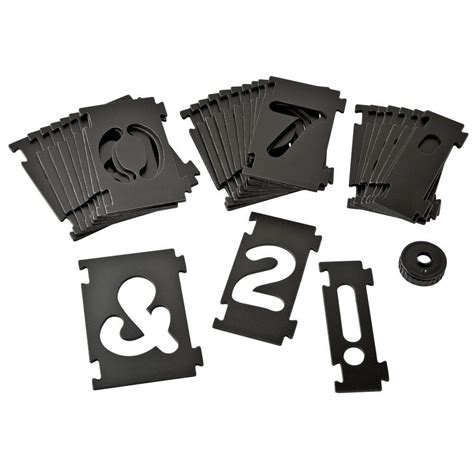 bench dog numbering sign making kit router template plates