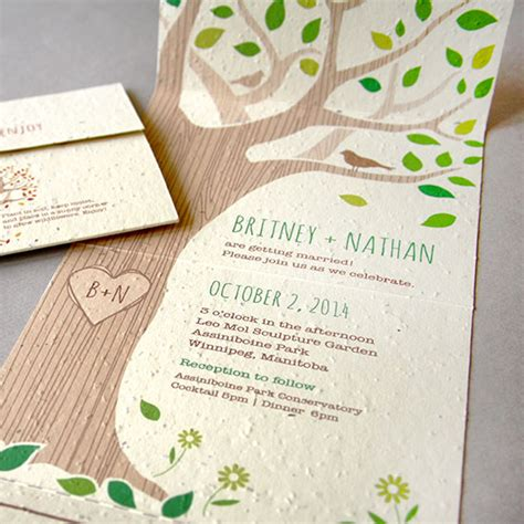 seal and send wedding invitations with photo rustic tree seal and send invitation seal and send wedding invitations catalog botanical