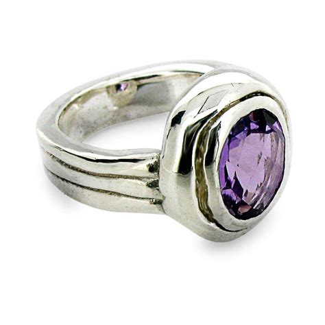 amethyst silver ring by will bishop jewellery design