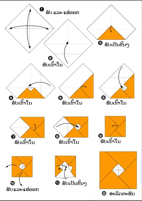 Origami Box Directions - origami triangle images