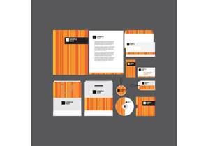 orange striped company profile template download free